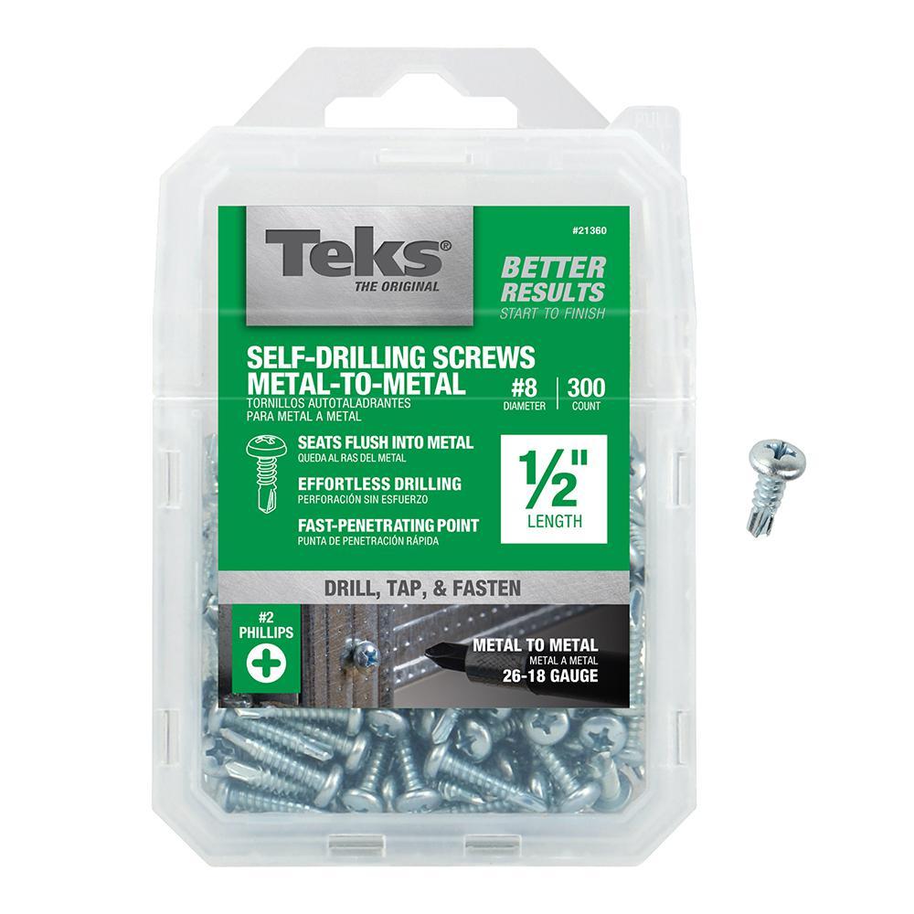 #8 1/2 in. Phillips Pan-Head Self-Drilling Screws (300-Pack)