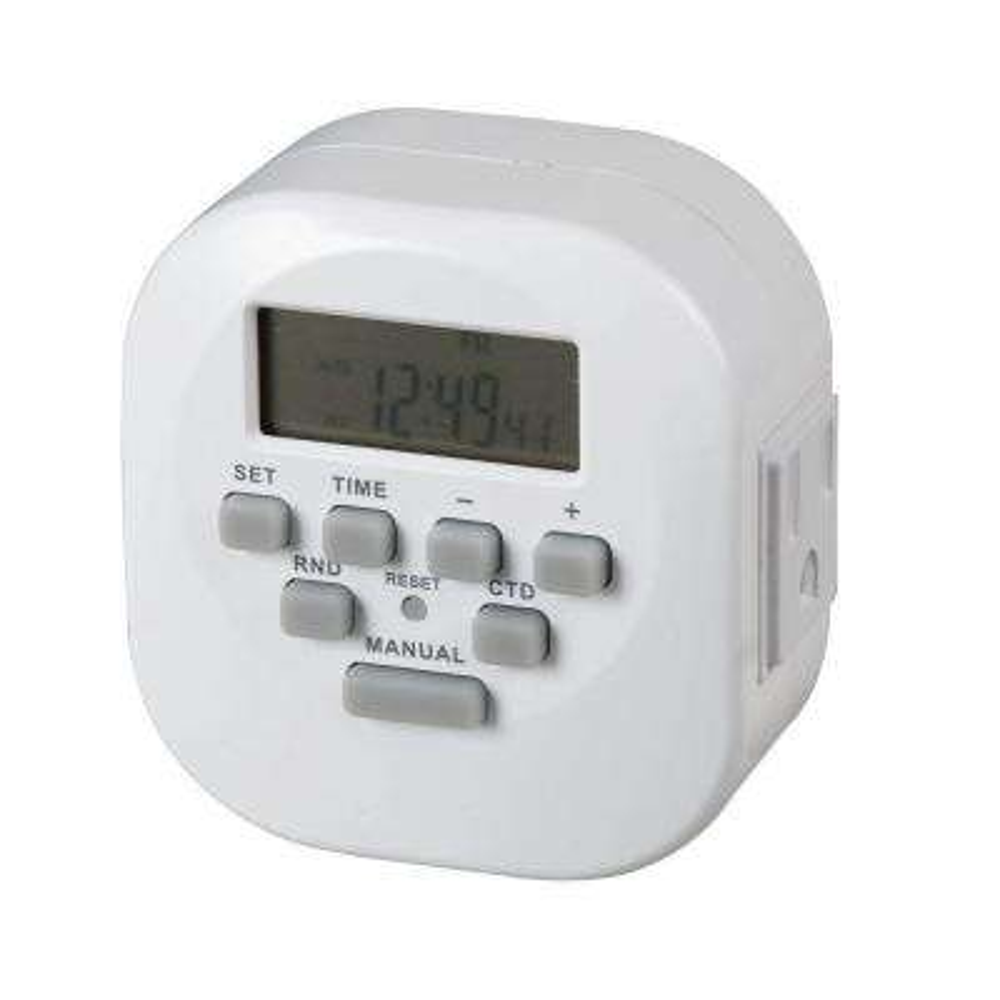 15 Amp 2-Outlet Digital Timer