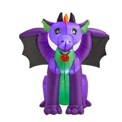 3.5 ft. Purple Baby Dragon with Wings Halloween Inflatable
