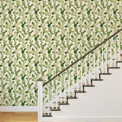 Genevieve Gorder Ghosted Cactus Self-Adhesive, Removable Wallpaper