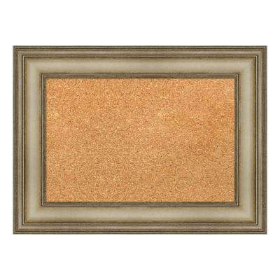 Mezzanine Antique Silver Narrow Framed Cork Memo Board