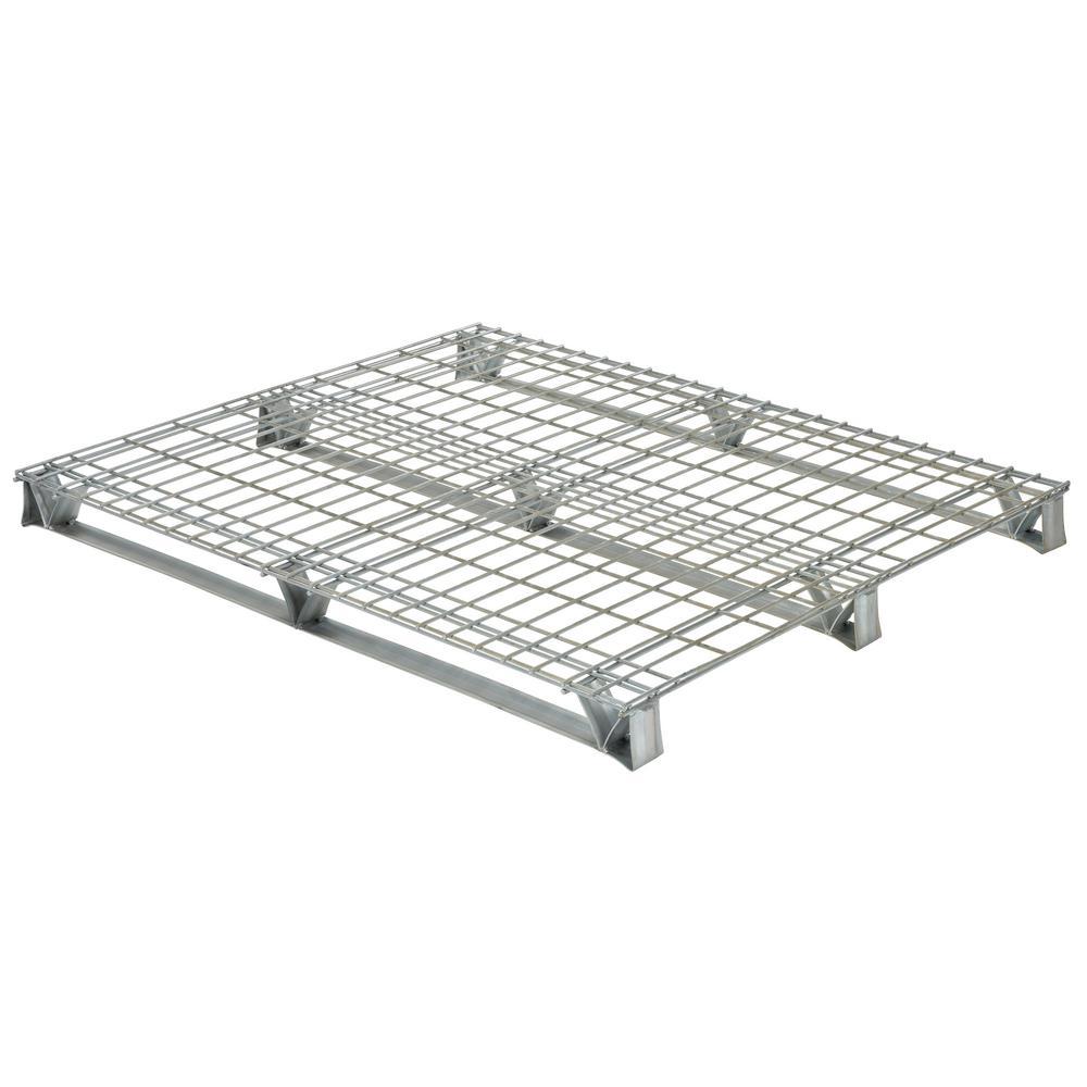 Vestil 48 In X 48 In X 4 In Galvanized Steel Welded
