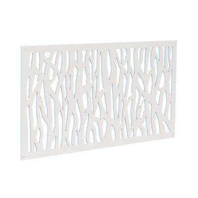 4 ft. x 2 ft. White Sprig Polymer Decorative Screen Panel