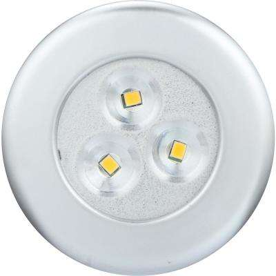 Lite-N-Up LED Silver Puck Light (2-Pack)