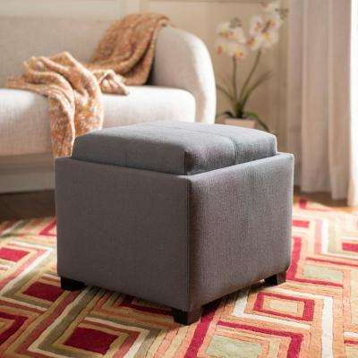 Harrison Charcoal Brown Storage Ottoman