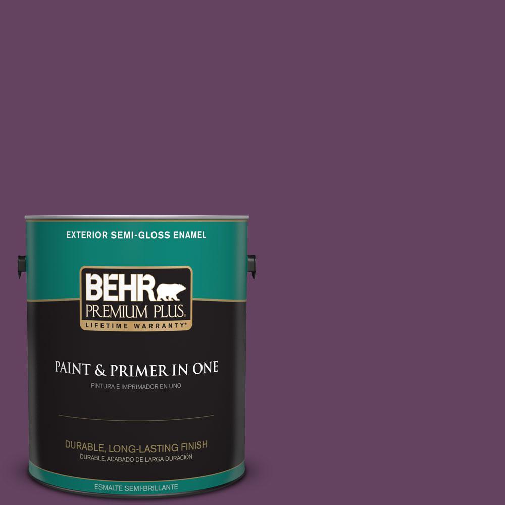 1-gal. #BIC-36 Grape Fizz Semi-Gloss Enamel Exterior Paint