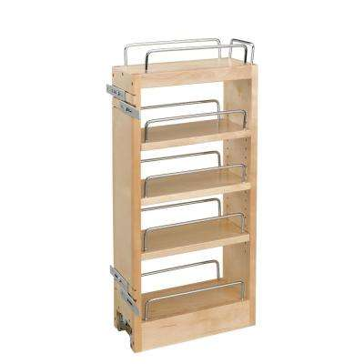 5 in. Wood Hood Pull-Out Organizer with Adj Shelves