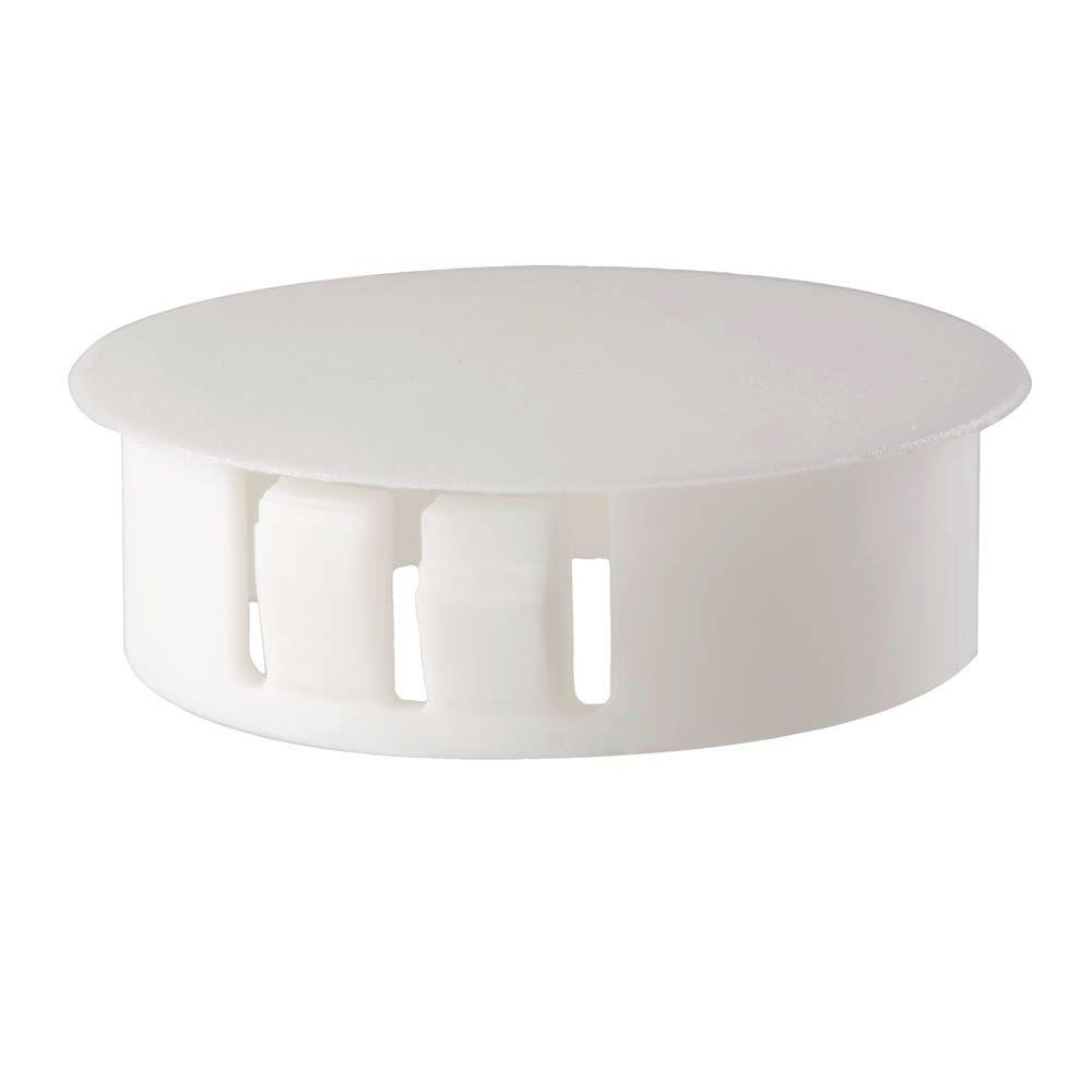 Everbilt 1/2 in  White Nylon Locking Hole Plug (2-Piece)