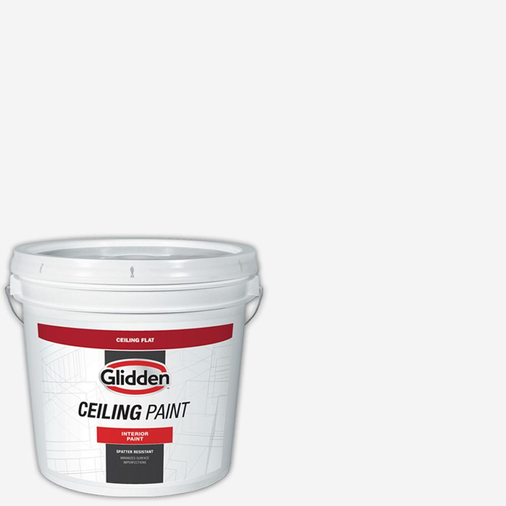 Glidden Ceiling 2 Gal Bright White Interior Flat Ceiling Paint Gc1070 02 The Home Depot