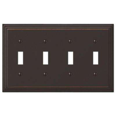 Steps 4 Toggle Wall Plate - Aged Bronze