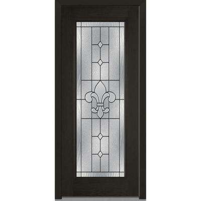 32 in. x 80 in. Carrollton Right-Hand Inswing Full Lite Decorative Stained Fiberglass Oak Prehung Front Door