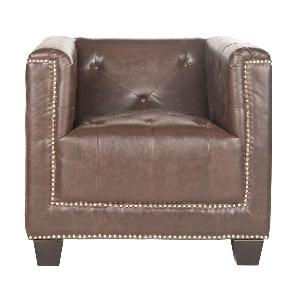 Bentley Antique Brown/Espresso Bicast Leather Club Arm Chair