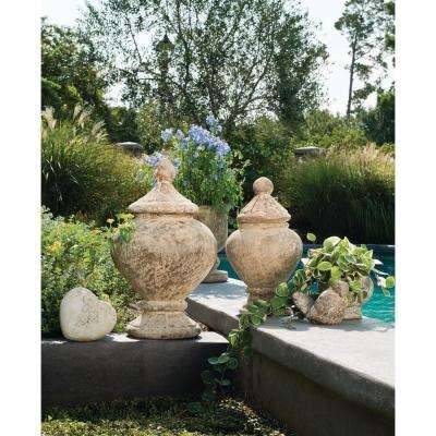 Monte 26 in. x 16 in. Ancient Rust Ceramic Decorative Garden Jar
