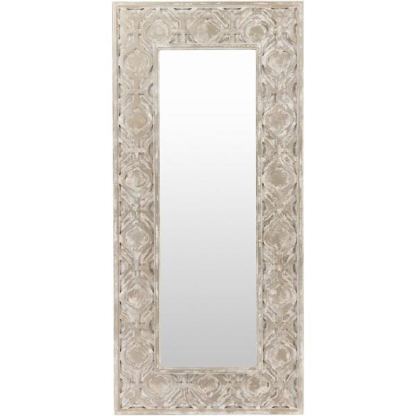 Oversized Rectangle Pewter Contemporary Mirror (75 in. H x 35 in. W)