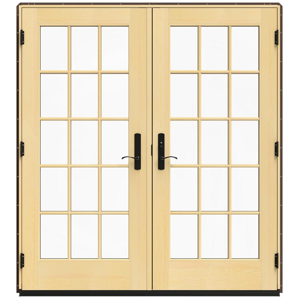 Jeld Wen 72 In X 80 In W 4500 Brown Clad Wood Left Hand