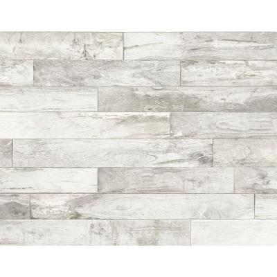 Weathered Gray Wood Wallpaper