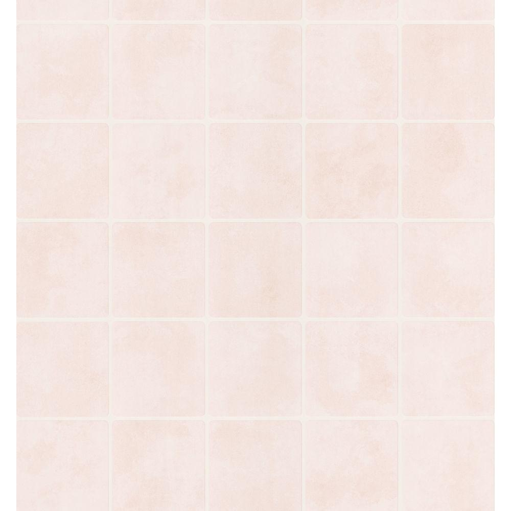 Brewster bath bath bath iii cream tile wallpaper sample for Home depot bathroom wallpaper