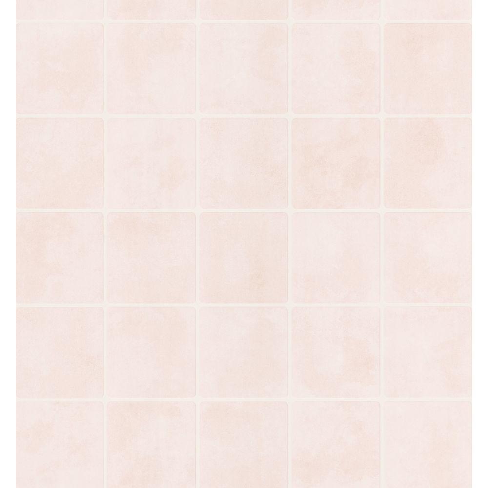 Bath Bath Bath III Cream Tile Wallpaper Sample