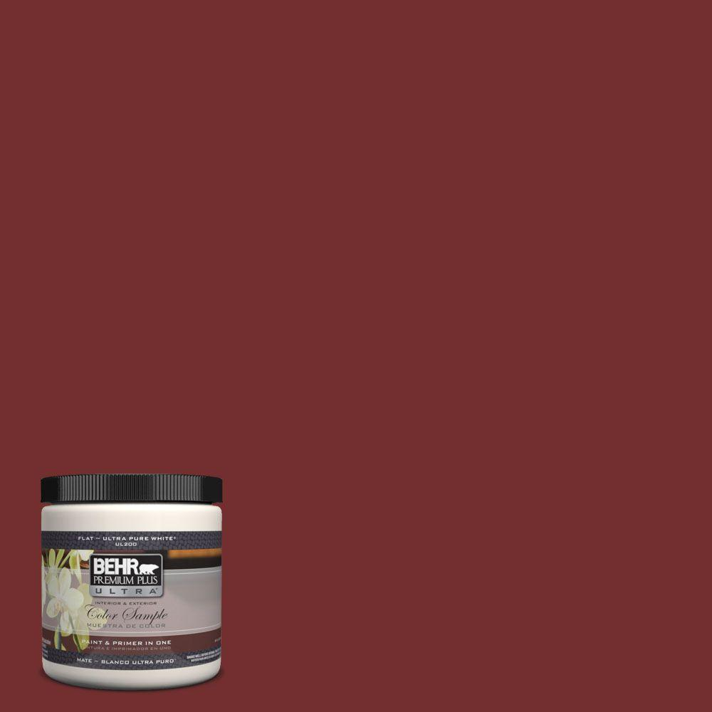 BEHR Premium Plus Ultra 8 oz. #PPH-67 Red Wine Interior/Exterior Paint Sample
