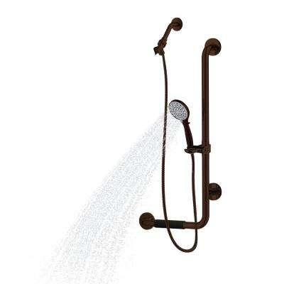 ErgoSlideBar Left 5-Spray Wall Bar Shower Kit In Oil Rubbed Bronze