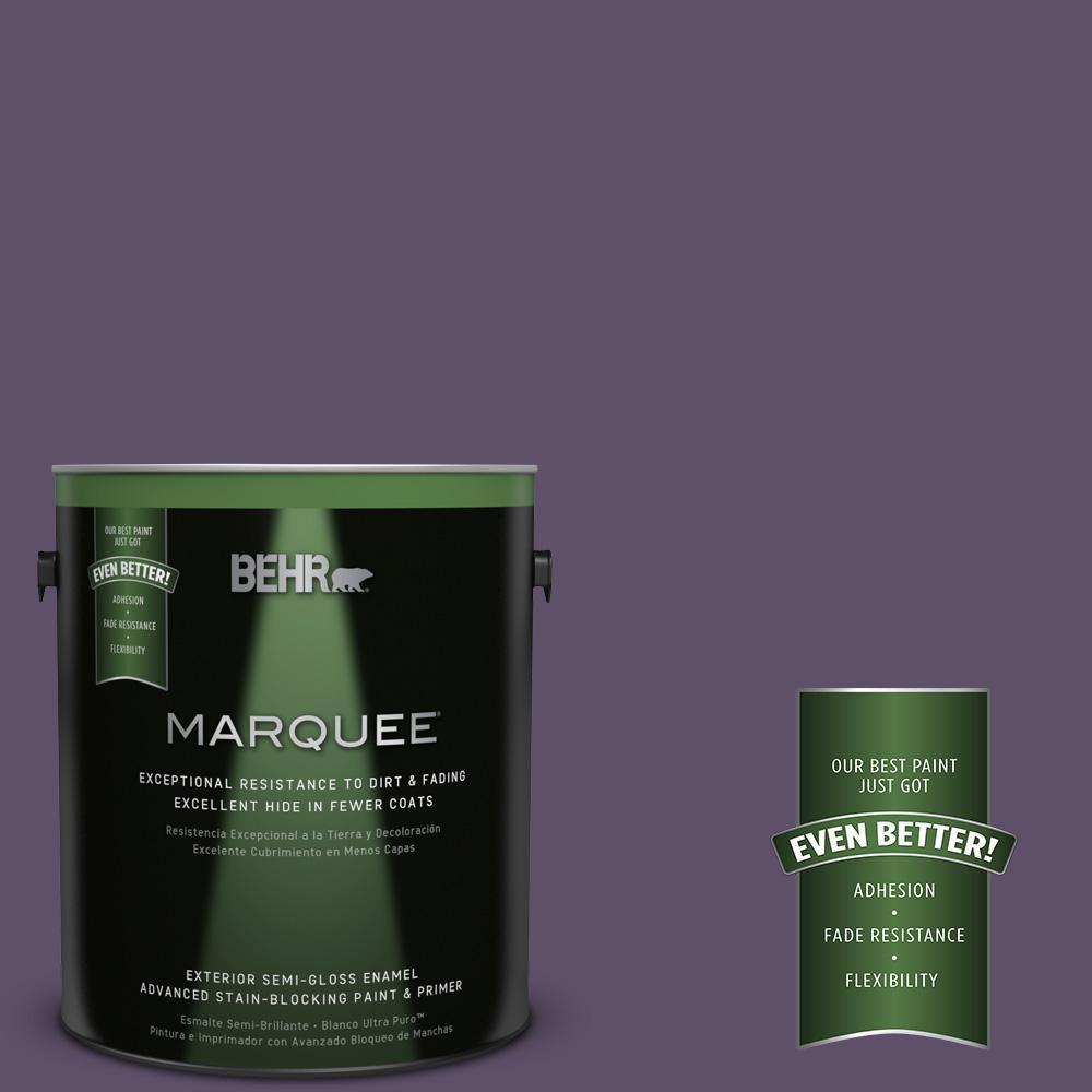 BEHR MARQUEE 1-gal. #M560-7 Muscat Grape Semi-Gloss Enamel Exterior Paint
