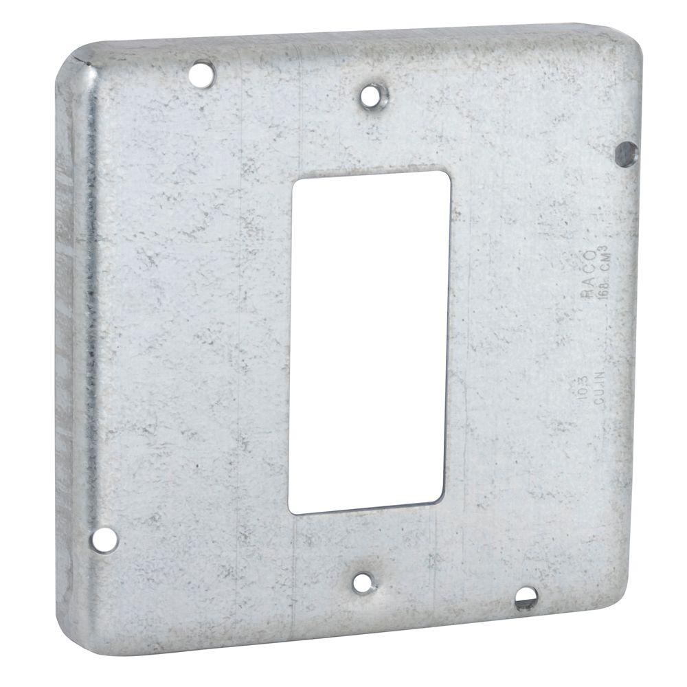 RACO 4-11/16 in. Square Exposed Work Cover for GFCI Device (10-Pack)