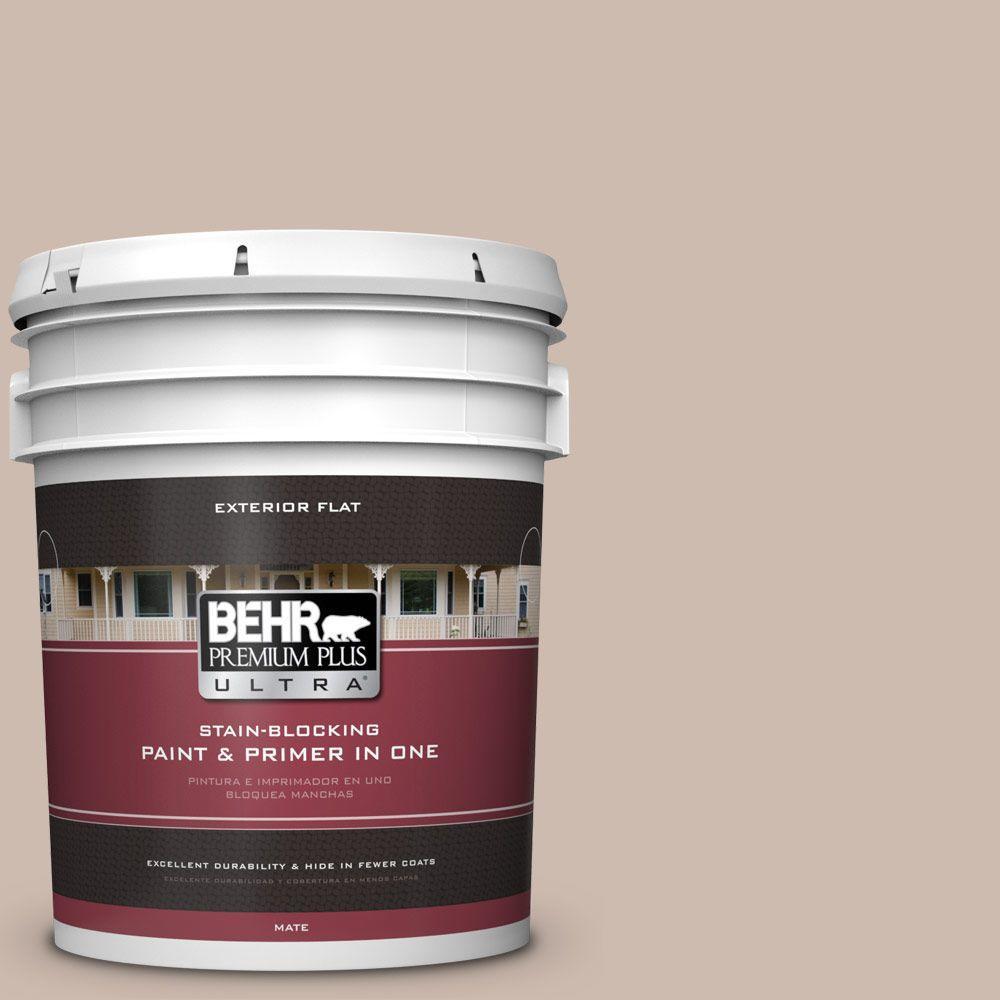 BEHR Premium Plus Ultra 5-gal. #N190-3 Windrift Beige Flat Exterior Paint