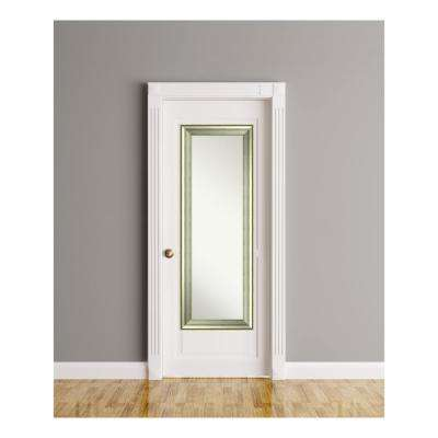 Vegas Curved Silver Wood 19 in. W x 53 in. H On The Door Mirror+H215