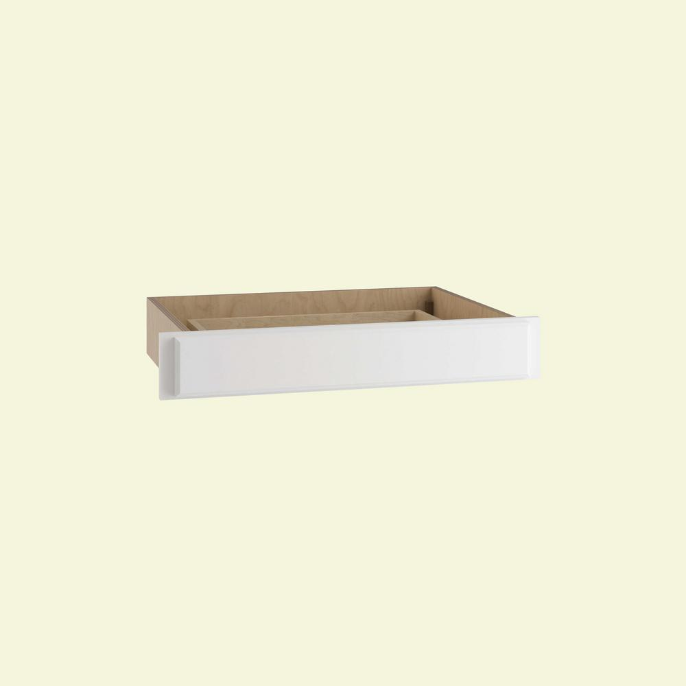 Home Decorators Collection Hallmark Assembled 30 x 5 x 21 in. Base Desk Knee Drawer in Arctic White