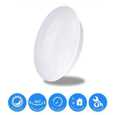 360° Warm White LED Built-In Doppler Motion Sensing Technology Light with Energy Savings and Multi-Smart Features