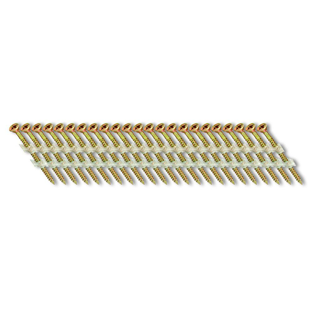 Scrail 2-1/2 in. x 1/9 in. 33-Degree Plastic Strip Square Head Nail Screw Fastener (1,000-Pack)