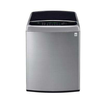 4.9 cu. ft. High-Efficiency Top Load Washer with Steam and TurboWash in Graphite Steel, ENERGY STAR