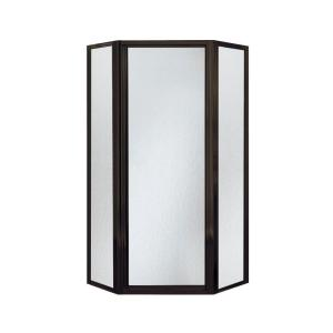 Sterling Intrigue 36-1/8 inch x 72 inch Neo-Angle Shower Door in Deep Bronze with Handle by STERLING