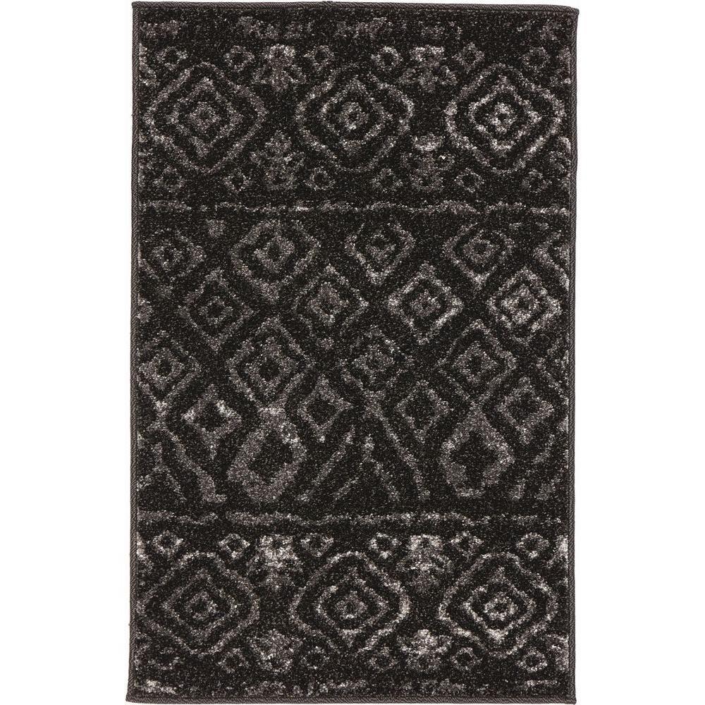 Tribal Essence Black 3 ft. x 5 ft. Area Rug