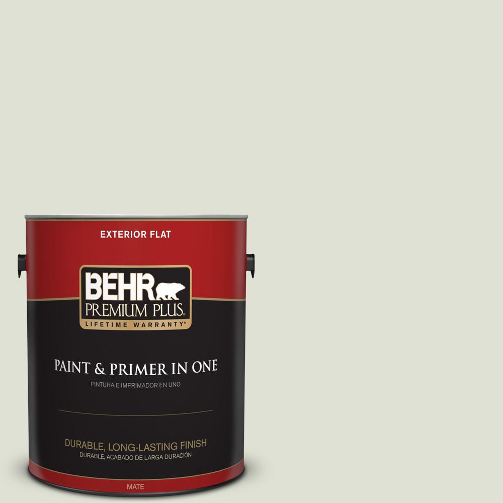 1 gal. #PPU10-12 Whitened Sage Flat Exterior Paint