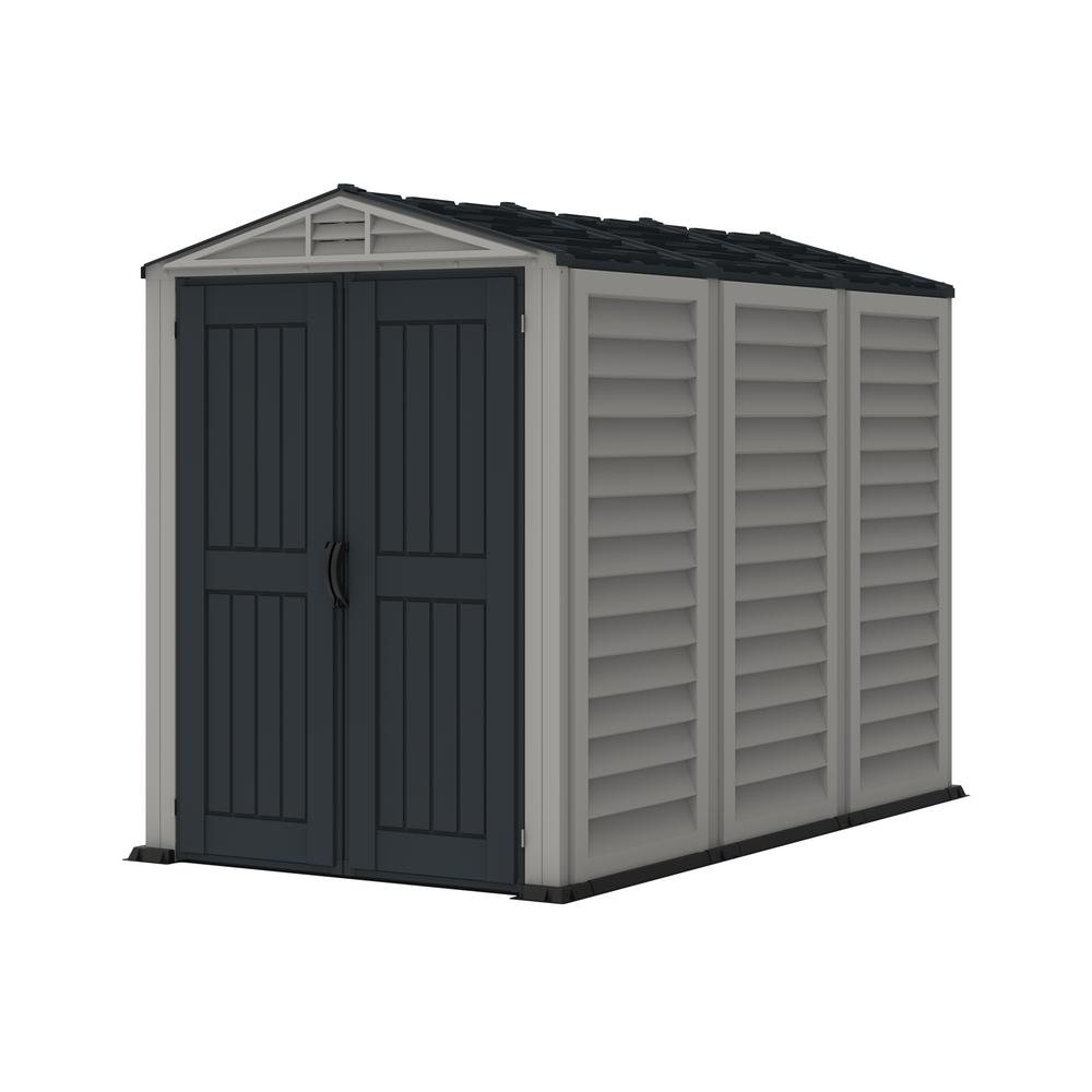 Duramax Building Products YardMate Plus 5 ft. 6 in. x 8 ft. Gray Vinyl Storage Shed