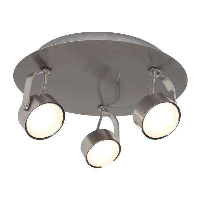 3-Light Brushed Chrome Integrated LED Spot Light