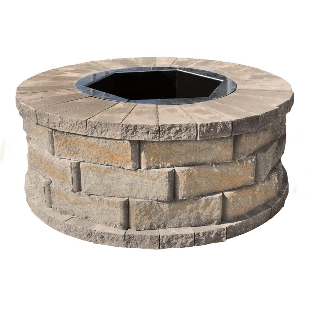 40 in. W x 16 in. H Rockwall Round Fire Pit