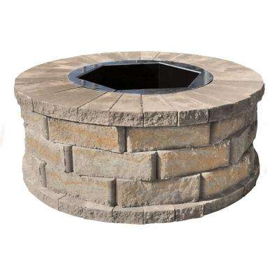 40 in. W x 16 in. H Rockwall Round Fire Pit Kit - Yukon