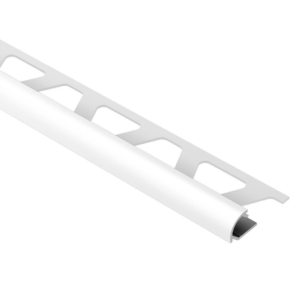 Schluter Rondec Bright White Color Coated Aluminum 5 16 In X 8 Ft