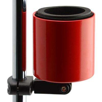 Kroozercups Deluxe Drink Holder Fits Bars from 5/8 in. to 1-3/8 in. at any Angle with New Super-Tight Grip in Red