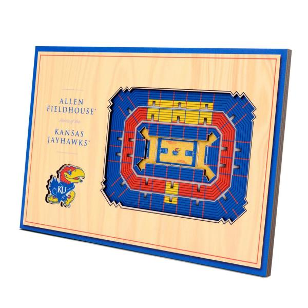 NCAA Kansas Jayhawks 3D StadiumViews Desktop Display - Allen Fieldhouse
