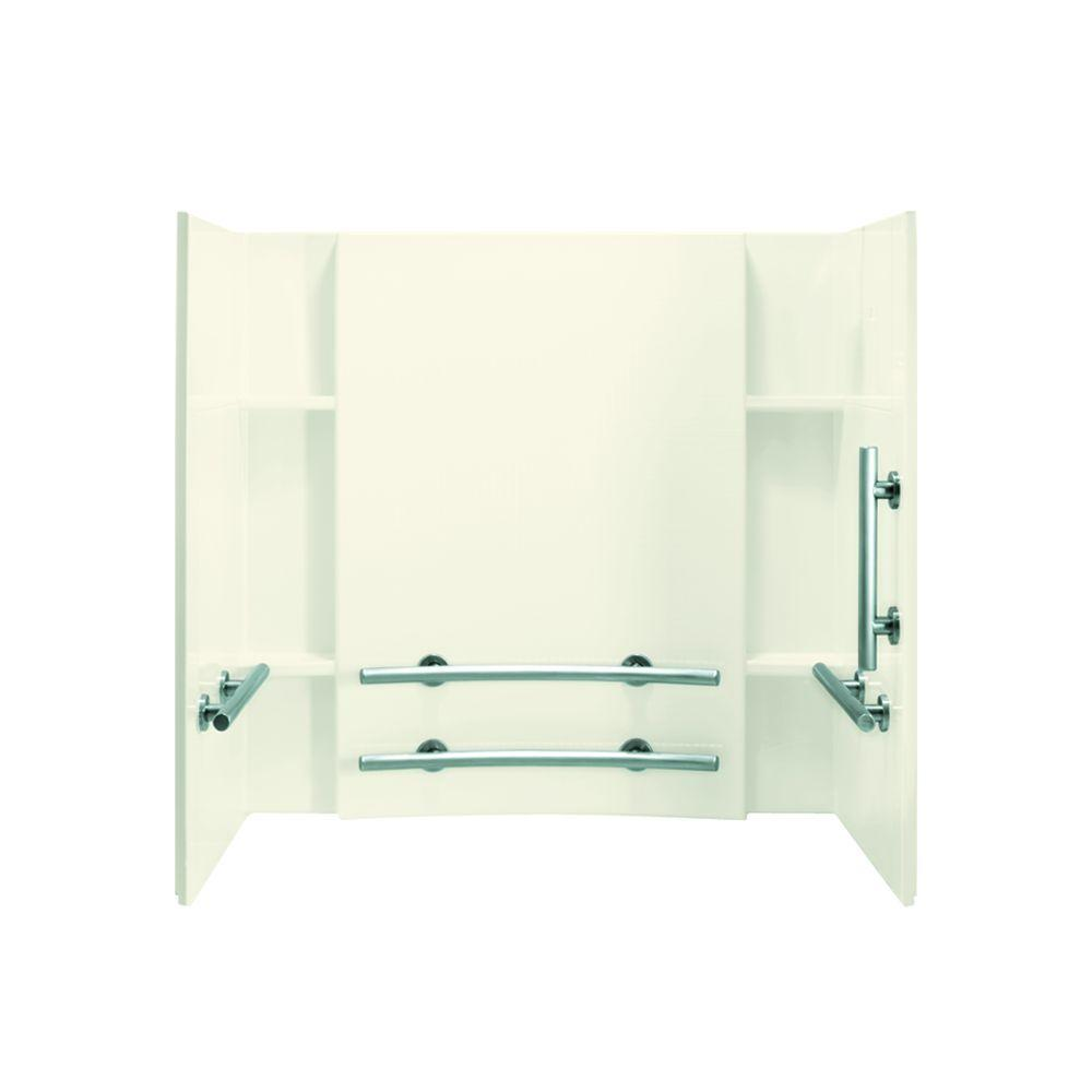 STERLING Accord 32 In. X 60 In. X 55 1/4 In. 3 Piece Direct To Stud Tub And  Shower Wall Set In Biscuit 71154123 96   The Home Depot
