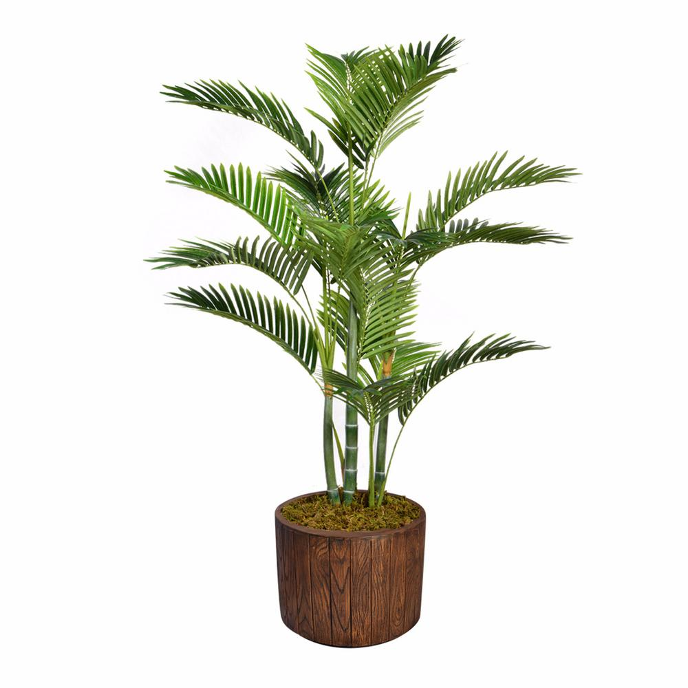52.8 in. Tall Palm Tree Artificial Decorative Faux with Burlap Kit