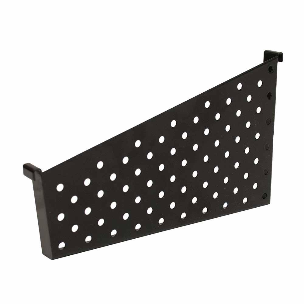 KCF 10 in. D Dividers for Perforated Metal Basket, Black (Pack of 2)