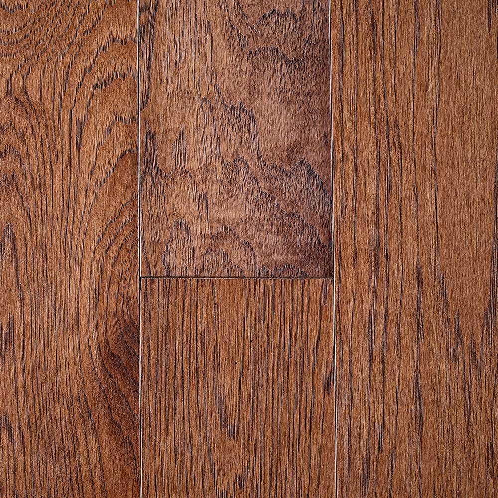 Lightly Brushed Oak Provincial 3/8 in. T x 3 in. W x Random Lengths Engineered Hardwood Flooring (25.5 sq. ft. / case)