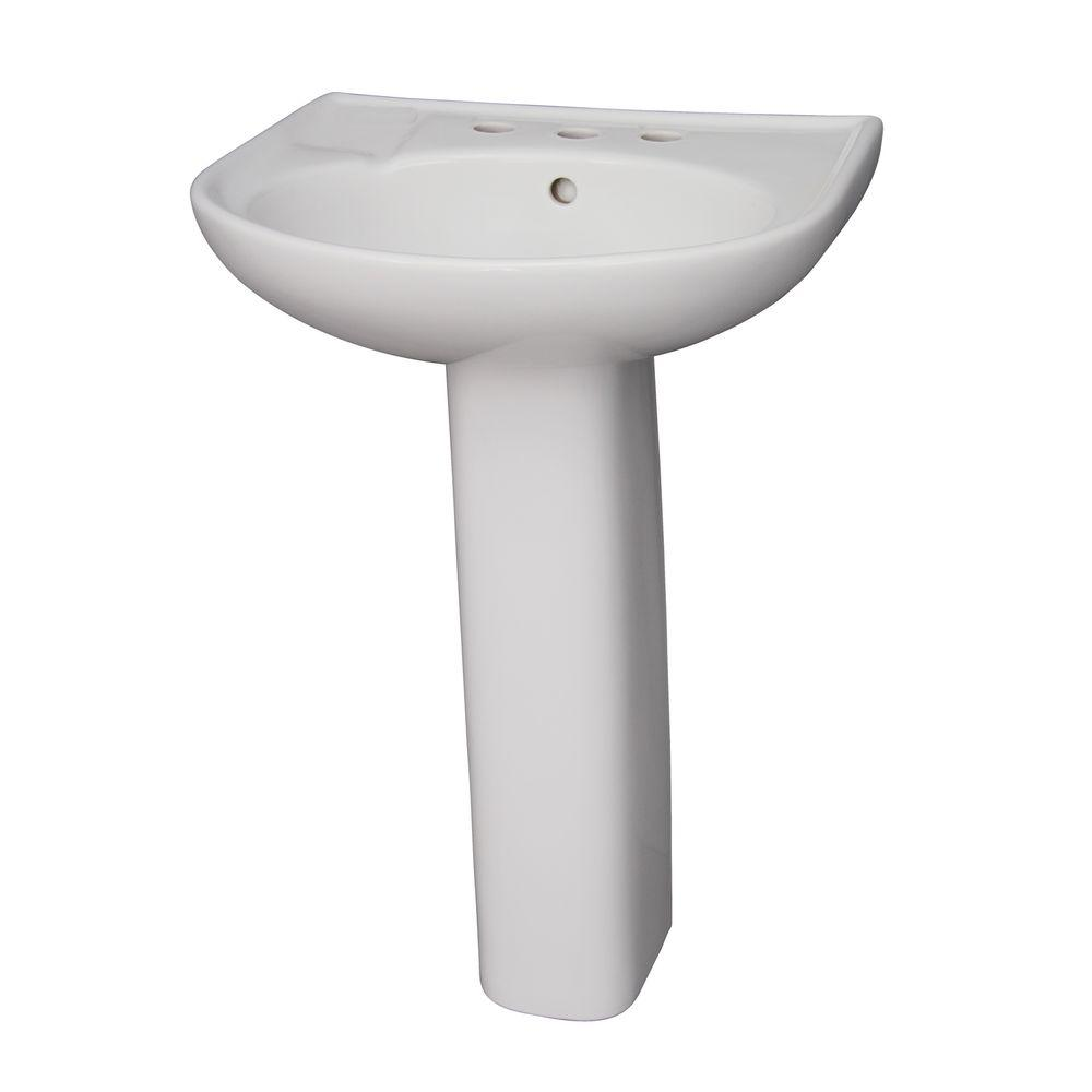 Cynthia 570 Pedestal Combo Bathroom Sink in White