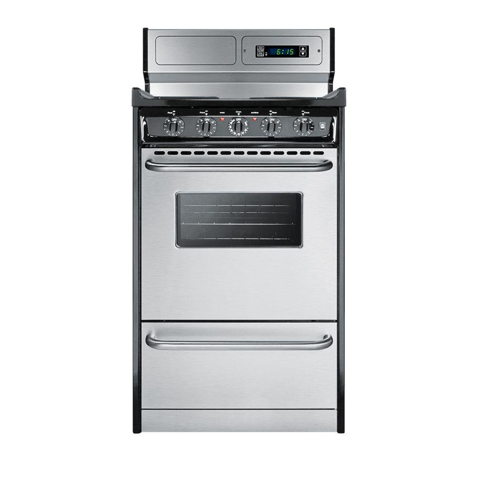Summit Appliance 20 in. 2.46 cu. ft. Electric Range in Stainless ...