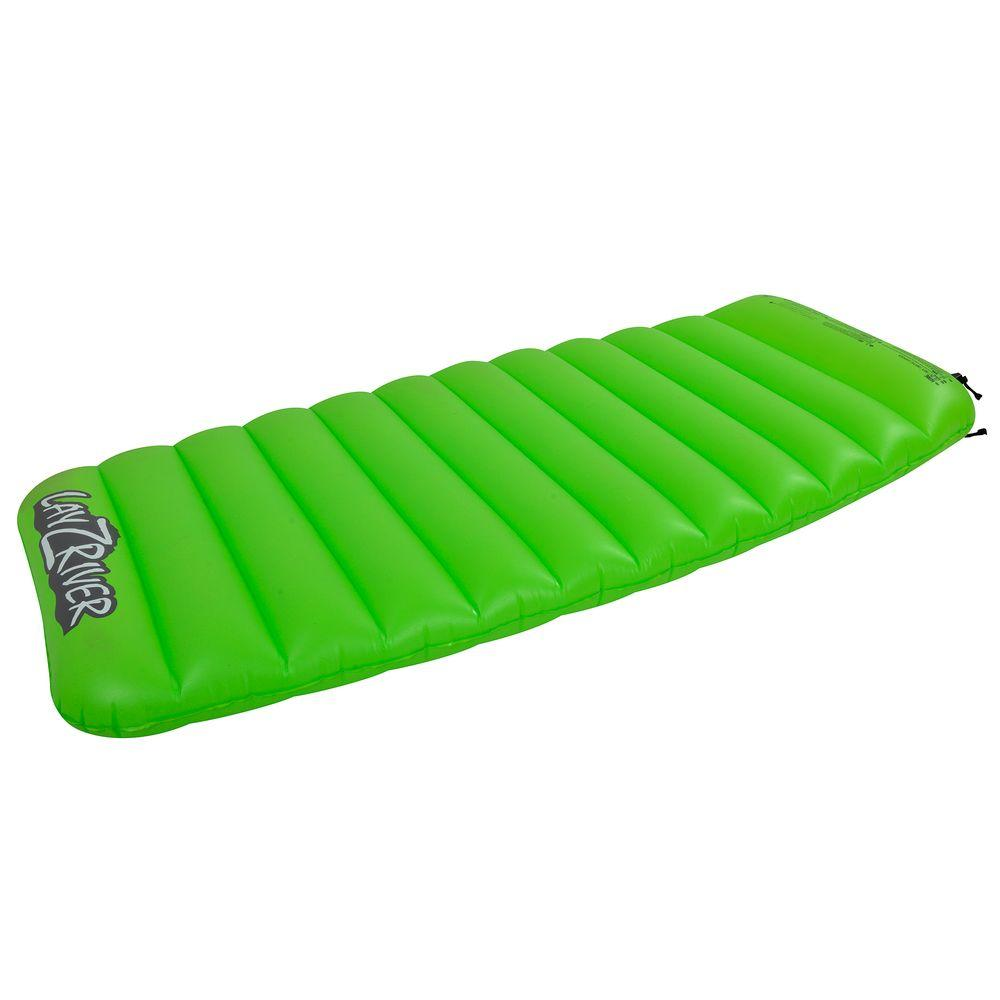 LayZRiver Inflatable Swim 1-Person Lake Air Mattress Float