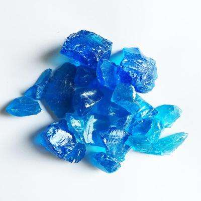 Crystal Turquoise Fire Glass Rocks